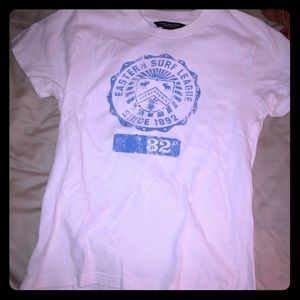 Cute vintage Abercrombie &  Fitch blue & white tee